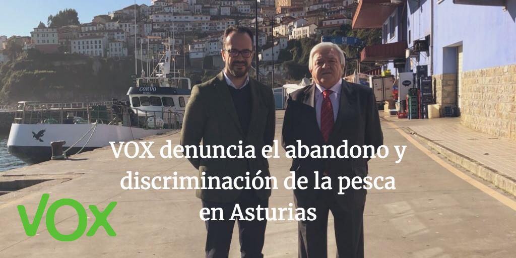 VOX denuncia el abandono y discriminación de la pesca en Asturias