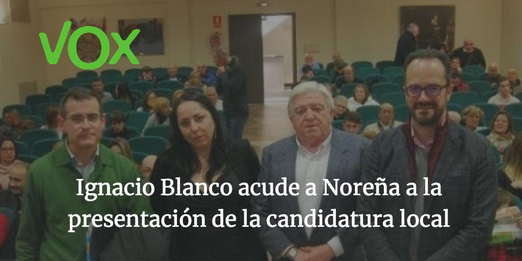 Ignacio Blanco acude a Noreña a la presentación de la candidatura local