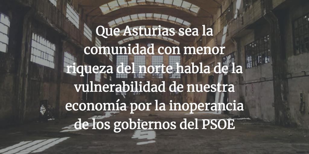 """""""Es necesario devolver a los asturianos el optimismo y una prosperidad económica que ya casi han olvidado"""""""