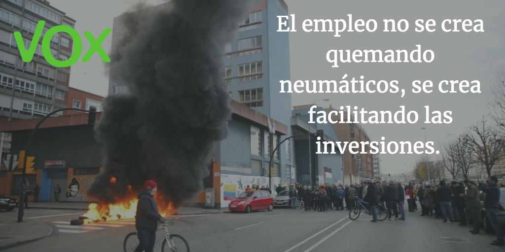 El empleo no se crea quemando neumáticos, se crea facilitando las inversiones.