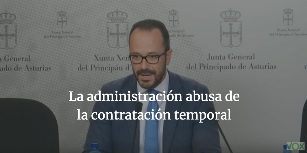 La administración abusa de la contratación temporal