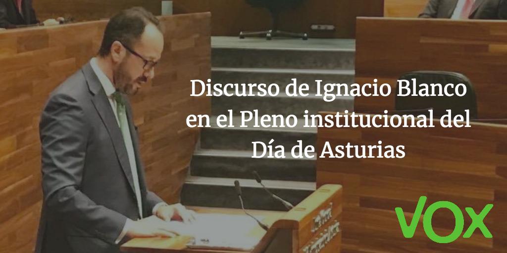 Discurso de Ignacio Blanco en el Pleno institucional del Día de Asturias